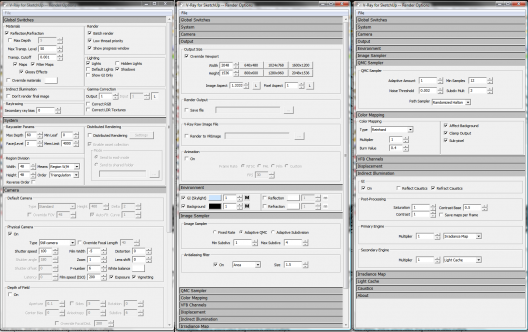render settings 1 528x332 Making of ASGVIS VRay for SketchUP Winning Render