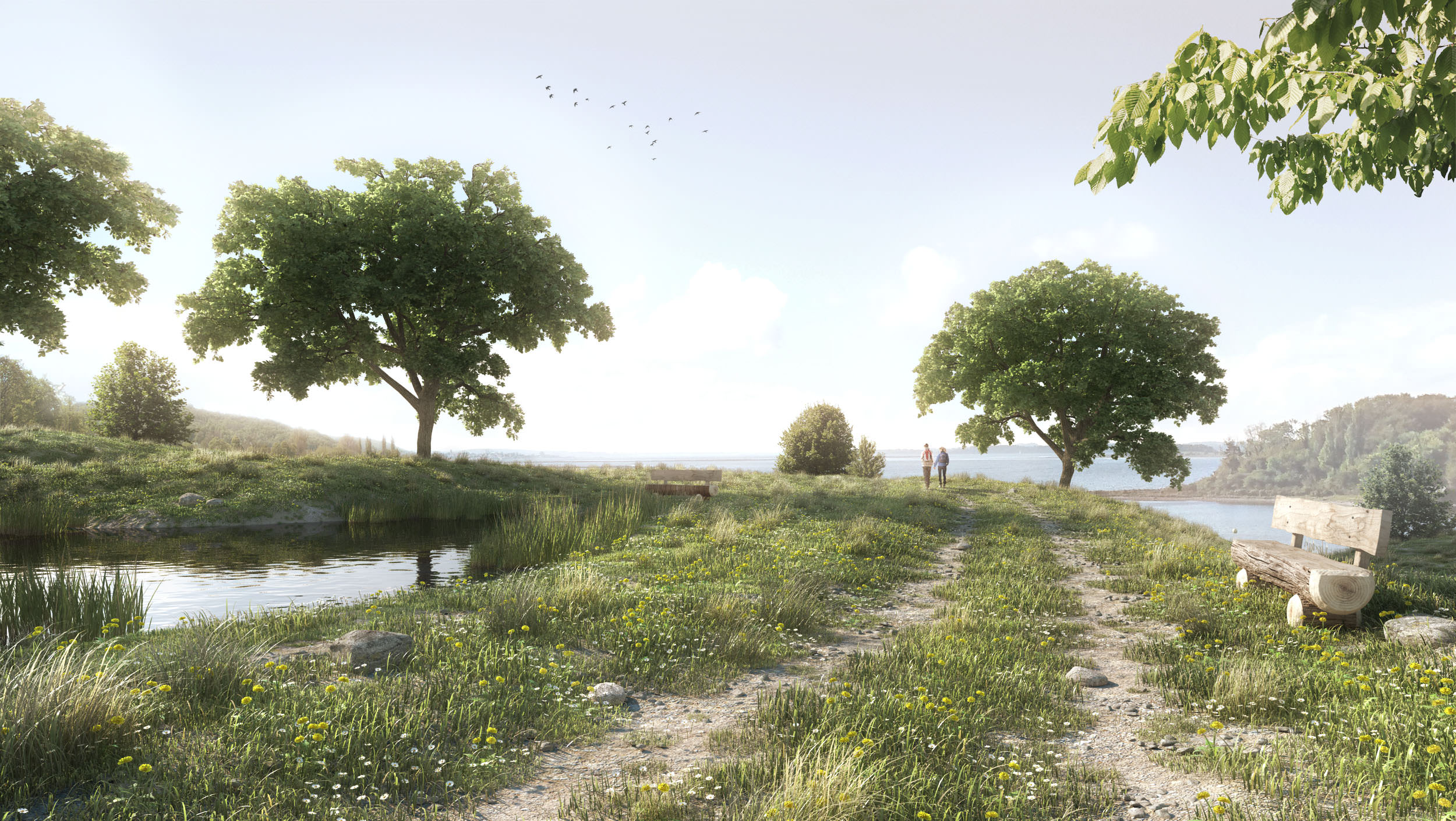 making of the meadow with sketchup skatter 3d