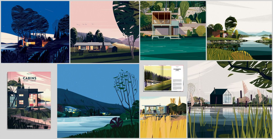 Gorgeous Cabin Illustrations By Marie Laure Cruschi 3d